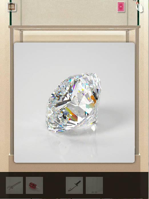 ダイヤモンド cubic room攻略 隠れリス